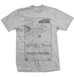 Star Wars Men's Tee: Millennium Falcon