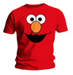 Sesame Street Men's Tee: Elmo's Face Red