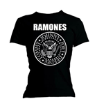 Ramones Women's Skinny Fit Tee: Seal