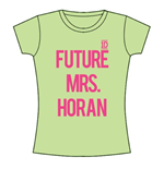 One Direction Women's Skinny Fit Tee: Future Mrs Horan