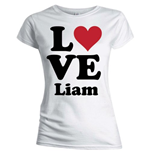 One Direction Women's Skinny Fit Tee: Love Liam