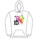 One Direction Women's Hooded Top: Rainbow Group