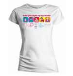 One Direction Women's Skinny Fit Tee: Line Drawing
