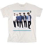 One Direction Women's Skinny Fit Tee: College Wreath