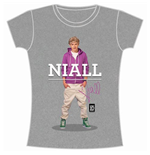 One Direction Women's Skinny Fit Tee: Niall Standing Pose