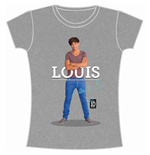 One Direction Women's Skinny Fit Tee: Louis Standing Pose