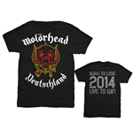 Motorhead Men's Back Print Tee: World Cup Germany
