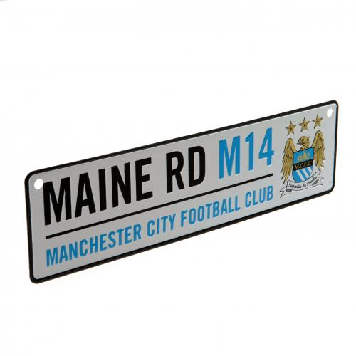 Window Sign Official Merchandise Manchester City F.c Fc Football Metal