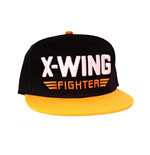 STAR WARS VII The Force Awakens X-Wing Fighter Snapback Baseball Cap, Black/Orange