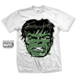 Marvel Comics Men's Tee: Hulk Big Head Distressed