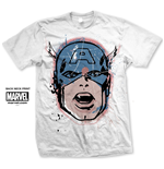 Marvel Comics Men's Tee: Capt. America Big Head Distressed