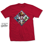 Marvel Comics Men's Tee: Diamond Characters