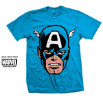 Marvel Comics Men's Tee: Capt. America Big Head