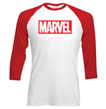 Marvel Comics Men's Raglan/Baseball Tee: Marvel Logo