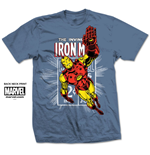 Marvel Comics Men's Tee: Iron Man Stamp