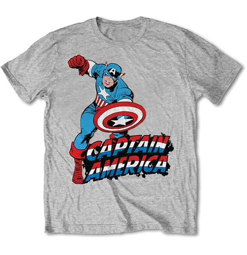 Marvel Comics Men's Tee: Simple Captain America