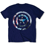 Marvel Comics Men's Tee: Captain America Knock-out