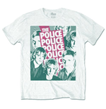 Police Men's Tee: Half-tone Faces