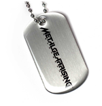 Metal Gear Dog Tag Necklace 190914