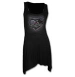 Resting With Angels - Goth Bottom Camisole Dress Black