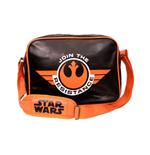 STAR WARS VII The Force Awakens Join the Resistance Messenger Bag, Black/Orange
