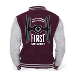 STAR WARS VII Men's The Force Awakens The First Order College Jacket, Large, Burgundy/Grey Melange