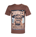 STAR WARS Adult Male Vintage Chewbacca 'Back to Kashyyyk' Rock Poster T-Shirt, Large, Brown