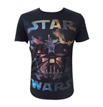 STAR WARS Adult Male Darth Vader All-Over T-Shirt, Large, Black