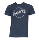 BLUE MOON White Outline Logo Tee Shirt