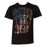 Gas Monkey Red, White And Blue Men's Black Tee Shirt