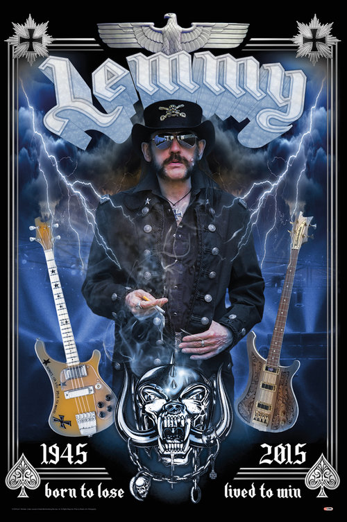 Lemmy Born To Lose Maxi Poster