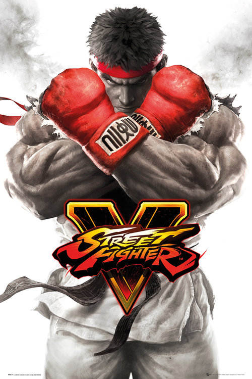 Street Fighter 5 Ryu Key Art Maxi Poster