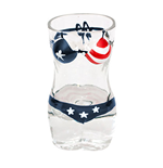 American Flag Women's Swimsuit Bikini Shot Glass