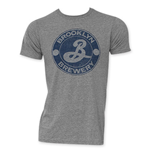 BROOKLYN BREWERY Men's Grey Circle Logo Tee Shirt