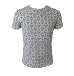 ASSASSIN'S CREED Adult Male Abstergo Logo All-Over Print T-Shirt, Large, Grey
