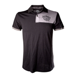JACK DANIEL'S Adult Male Old No.7 Brand Polo Shirt, Medium, Black/Grey