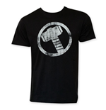 THOR Men's Black Circle Logo Tee Shirt