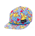 POKEMON Unisex Dancing Pikachu All-Over Pattern Snapback Baseball Cap, One Size, Multi-Colour