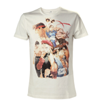 CAPCOM Street Fighter IV Adult Male Character Roster T-Shirt, Small, White