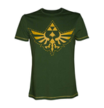 NINTENDO Legend of Zelda Adult Male Royal Crest Cutout T-Shirt, Extra Extra Large, Green