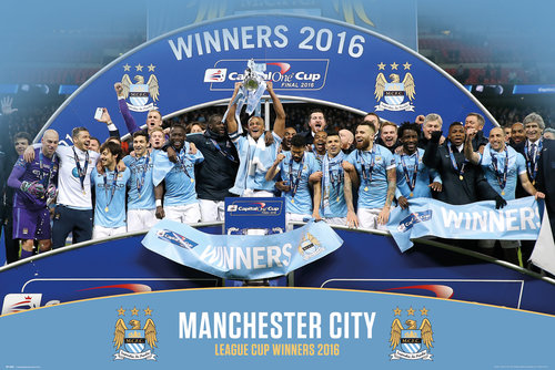 Manchester City League Cup Winners 15/16 Maxi Poster