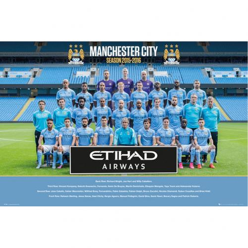 Manchester City F.C. Poster Squad 72