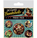 DC Comics Pin Badges 5-Pack Bombshells