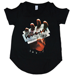 Judas Priest Women's Cut-out Tee: British Steel