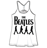 The Beatles Women's Baby Doll Tee: Abbey Road Walking