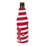 BUDWEISER Stars And Stripes Bottle Koozie