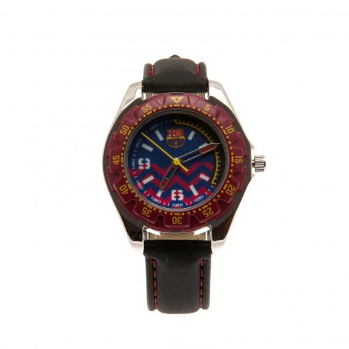 F.C. Barcelona Watch Leather Strap Junior CL
