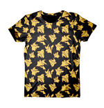 POKEMON Adult Male Pikachu All-Over Print T-Shirt, Medium, Black