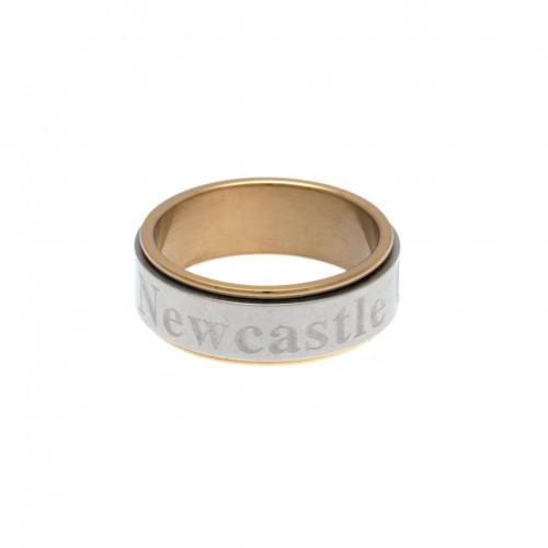 Newcastle United F.C. Bi Colour Spinner Ring X-Small