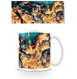 Batman Mug Flames